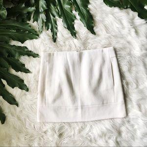 JCrew White Wool Mini Skirt